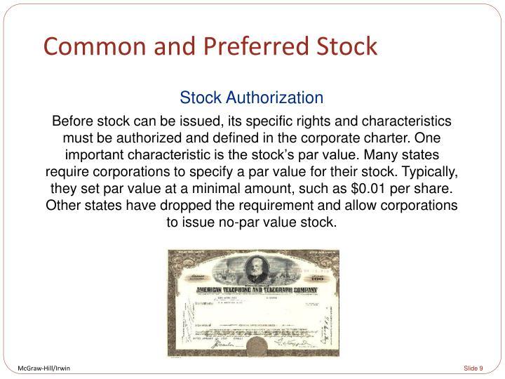 Common and Preferred Stock