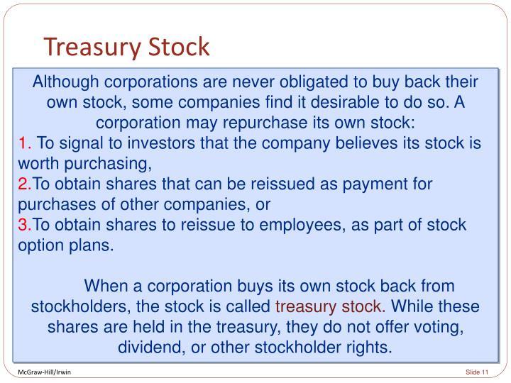 Treasury Stock