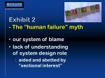 exhibit 2 the human failure myth