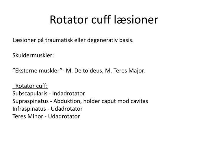 Rotator cuff l sioner