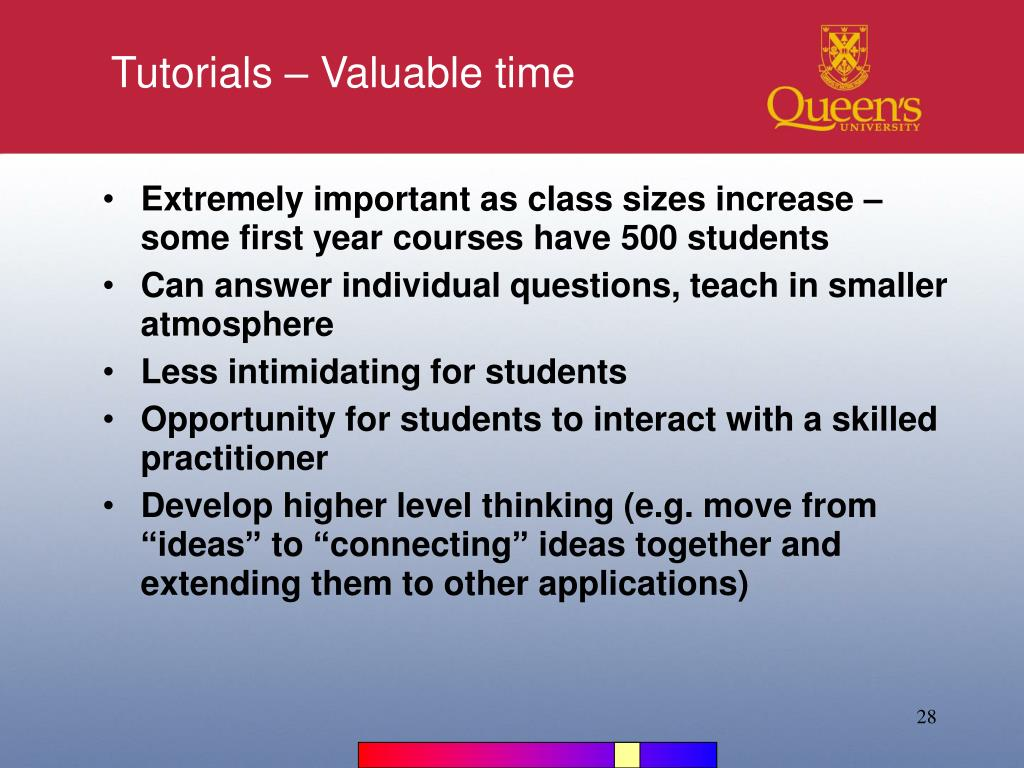 Tutorials – Valuable time