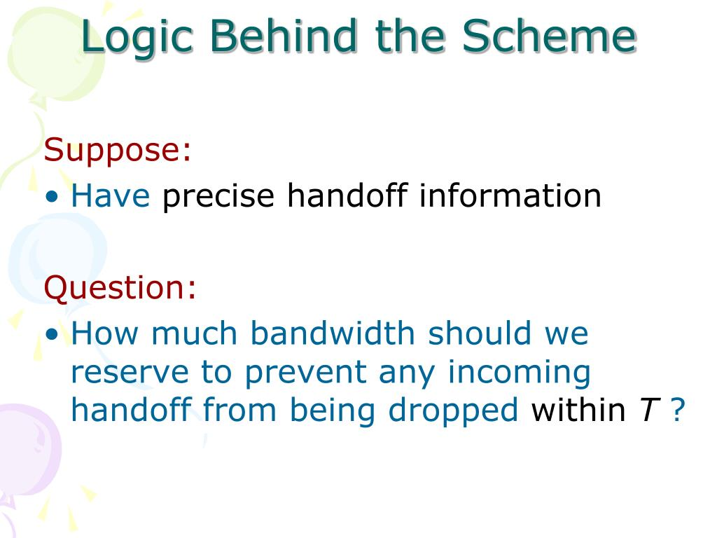 Logic Behind the Scheme