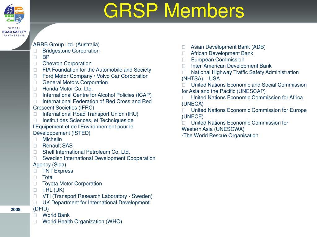 GRSP Members