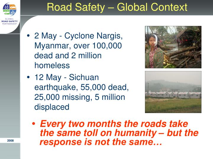 Road safety global context