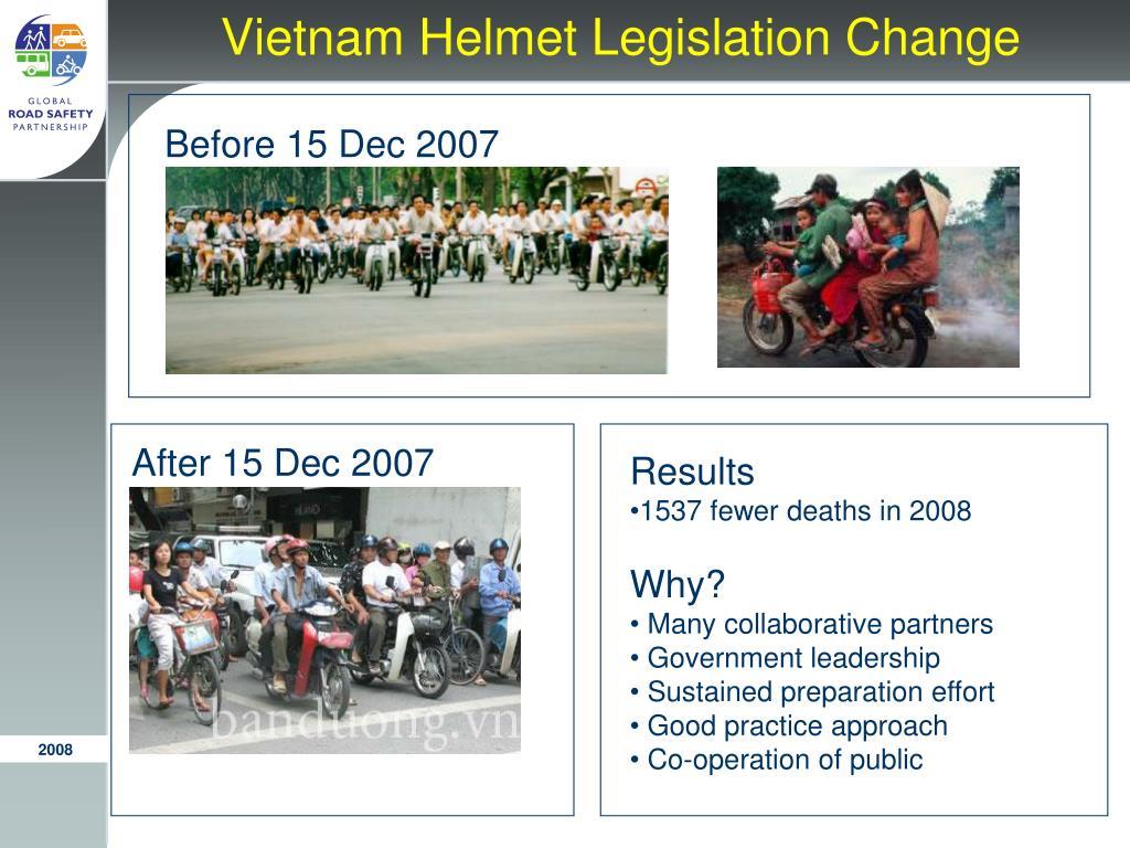 Vietnam Helmet Legislation Change