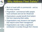 why address fleet safety