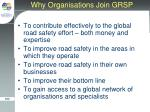 why organisations join grsp