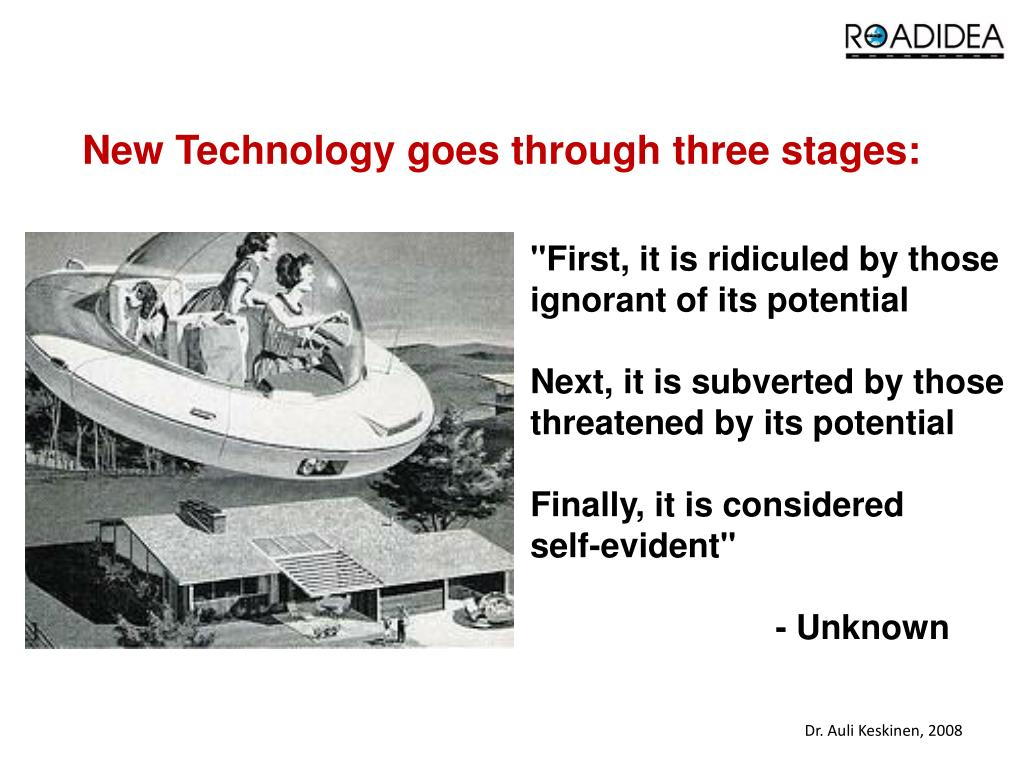 New Technology goes through three stages:
