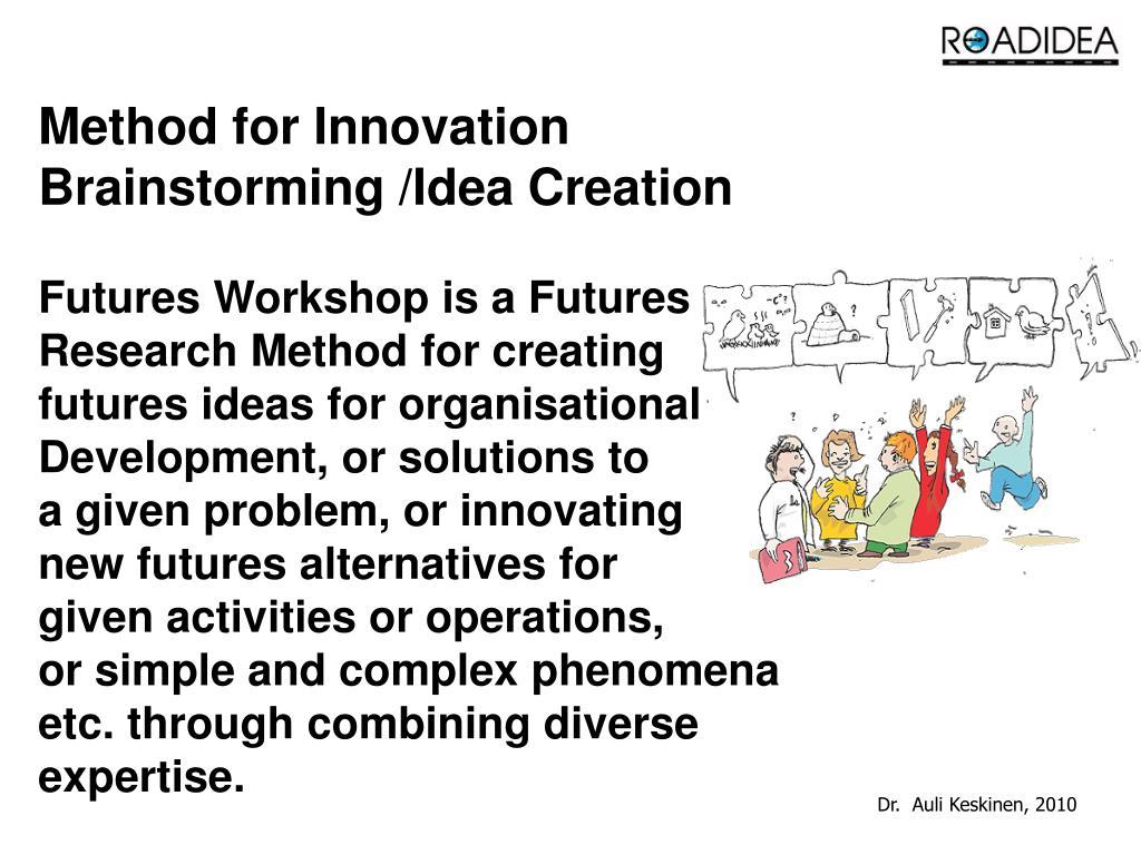Method for Innovation Brainstorming /Idea Creation