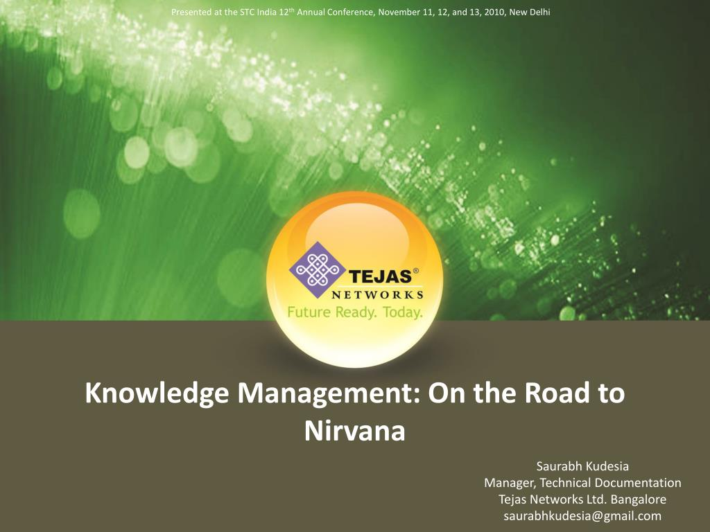 knowledge management on the road to nirvana l.