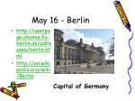 may 16 berlin