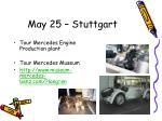 may 25 stuttgart