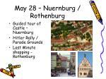 may 28 nuernburg rothenburg