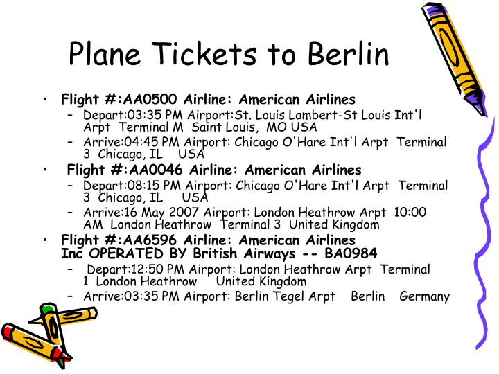 Plane Tickets to Berlin