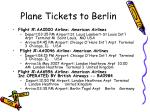 plane tickets to berlin