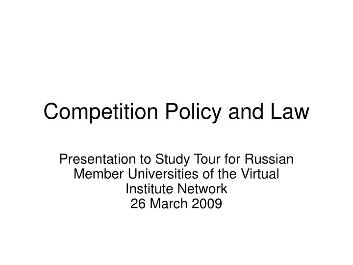 competition policy and law n.