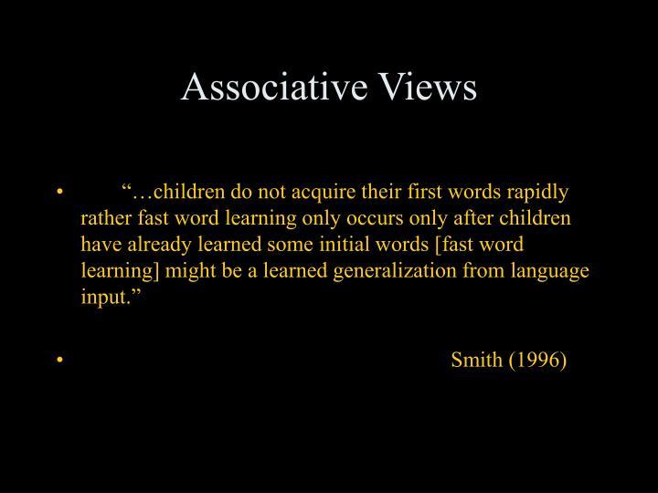 Associative Views