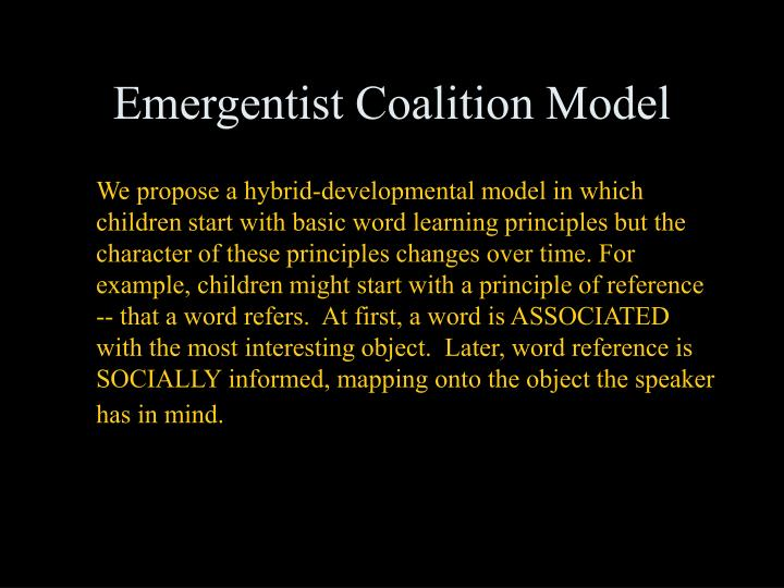Emergentist Coalition Model