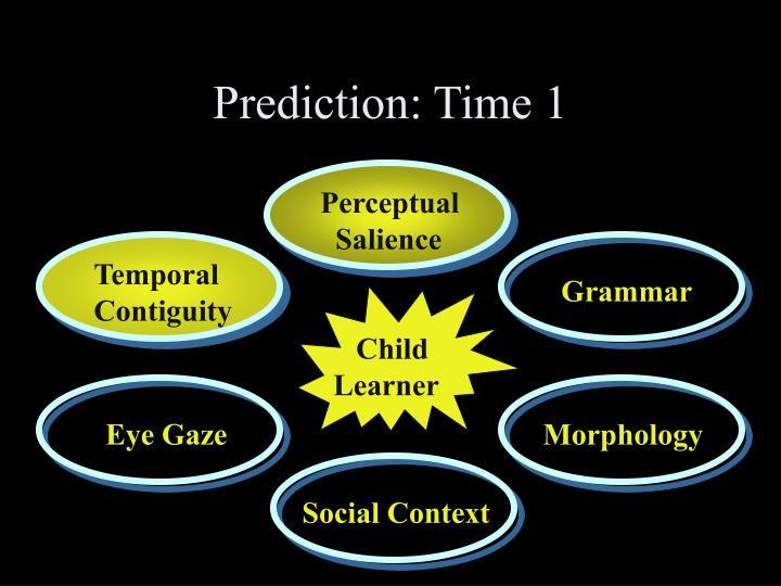 Prediction: Time 1