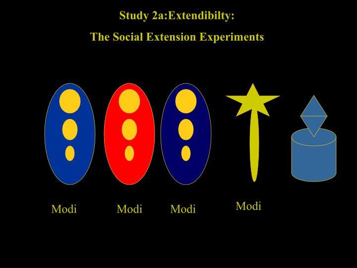 Study 2a:Extendibilty: