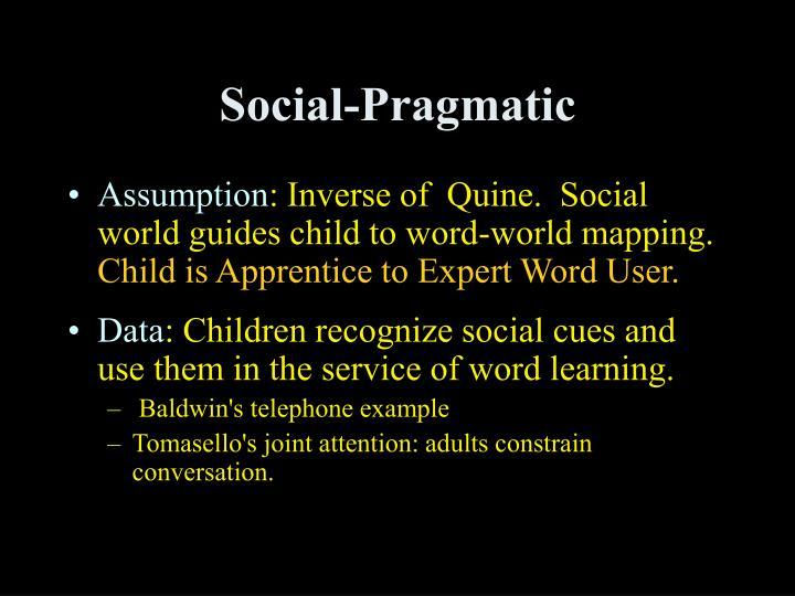 Social-Pragmatic