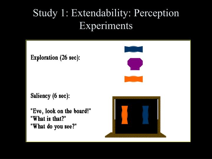Study 1: Extendability: Perception Experiments