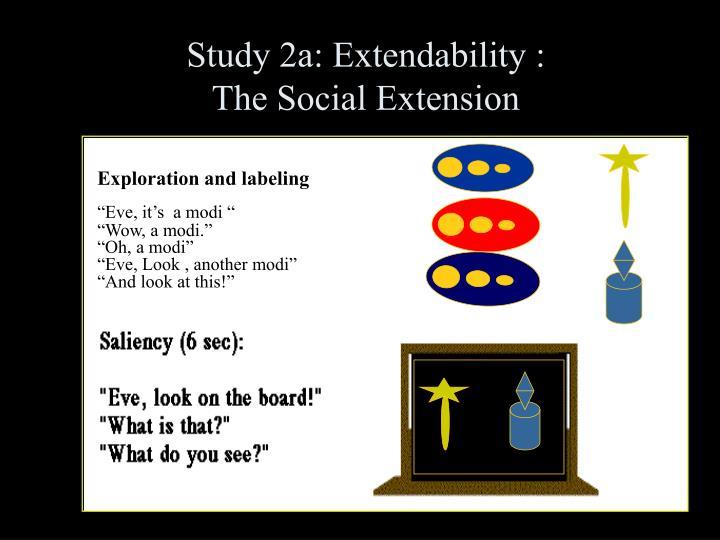 Study 2a: Extendability :