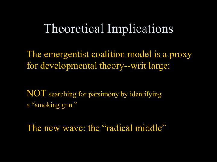 Theoretical Implications
