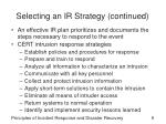 selecting an ir strategy continued1