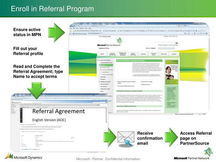 Ppt Microsoft Partner Network Dynamics Lead Referral Program