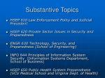substantive topics