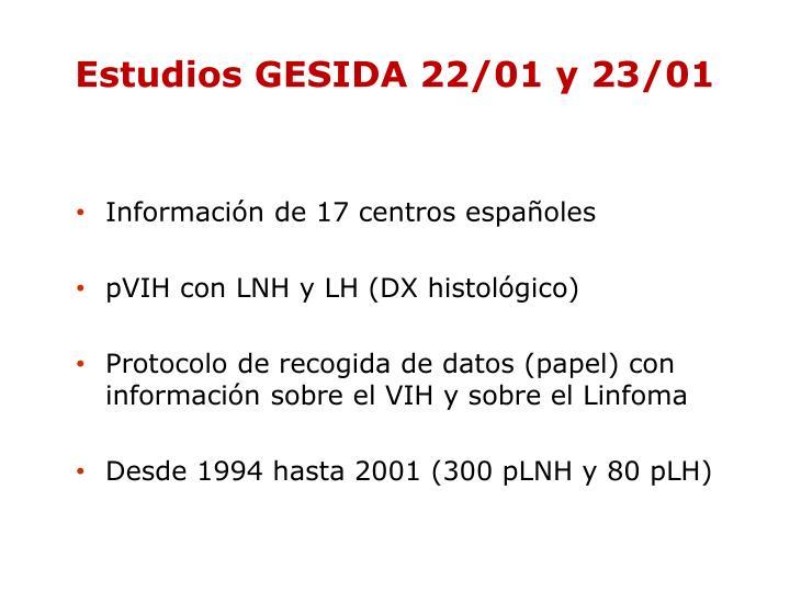 Estudios GESIDA 22/01 y 23/01