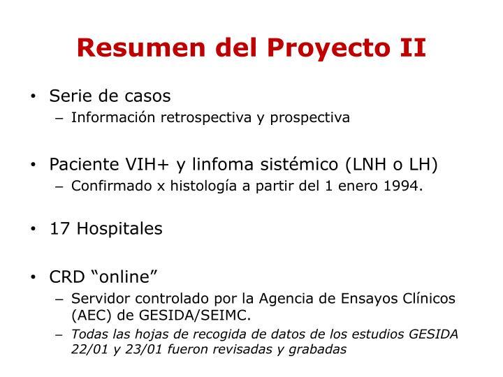 Resumen del Proyecto II