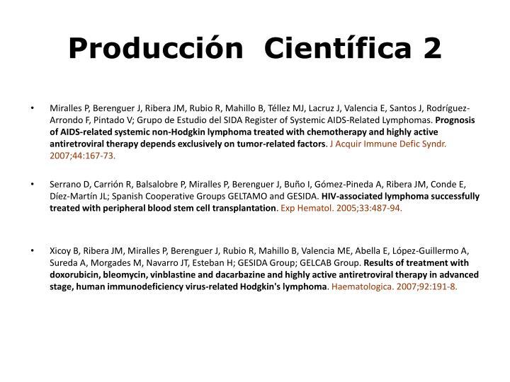 Producción  Científica 2