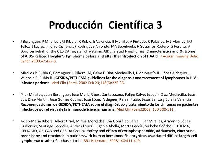Producción  Científica 3