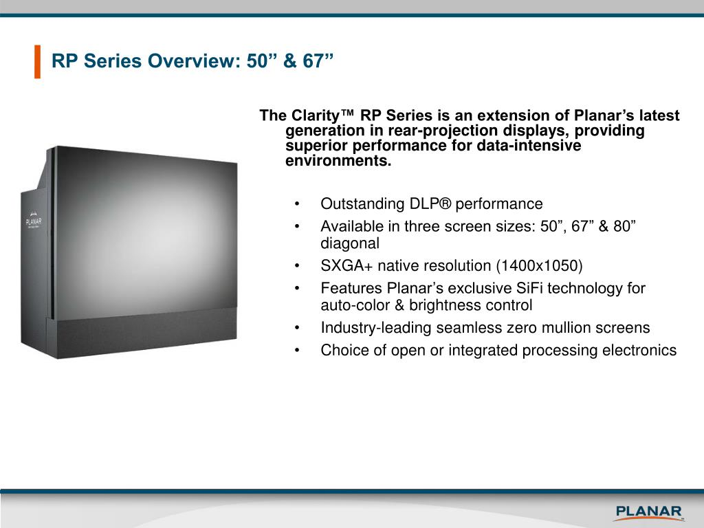 """RP Series Overview: 50"""" & 67"""""""