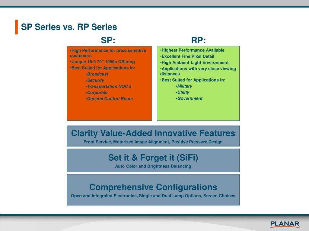 SP Series vs. RP Series