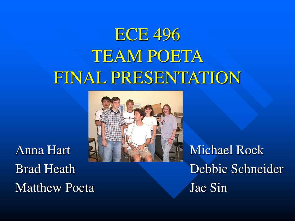 ece 496 team poeta final presentation l.