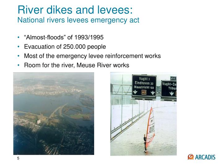 River dikes and levees: