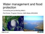 water management and flood protection
