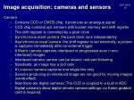 image acquisition cameras and sensors