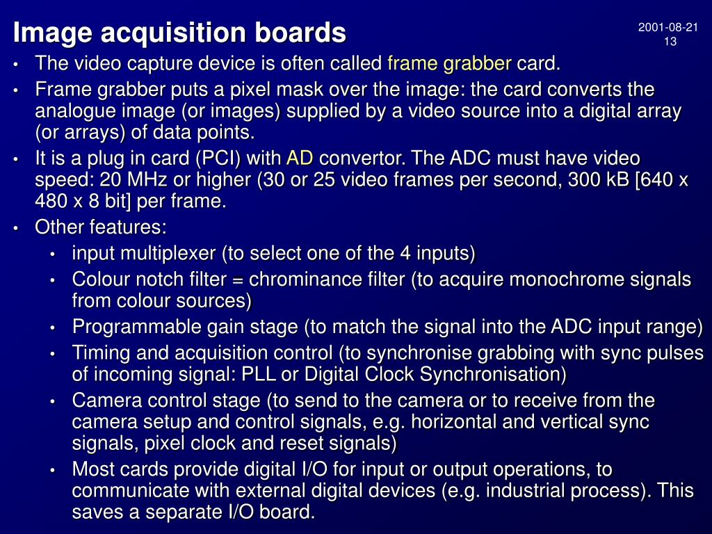 Image acquisition boards