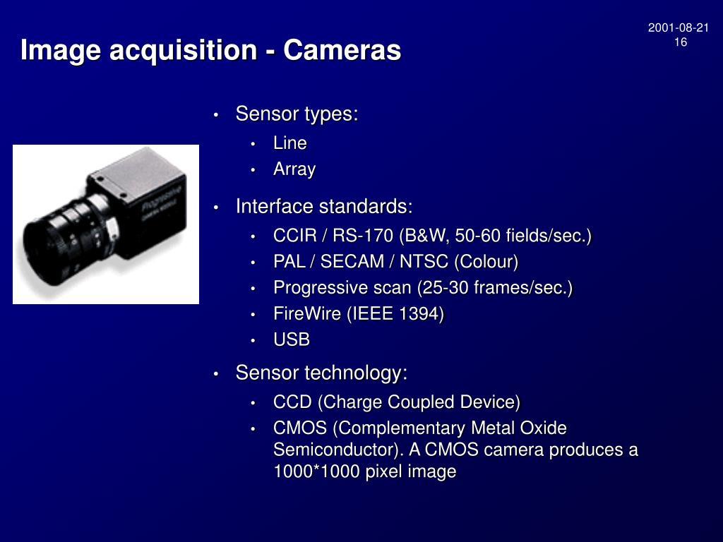Sensor types: