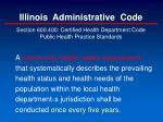 illinois administrative code1