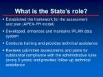 what is the state s role
