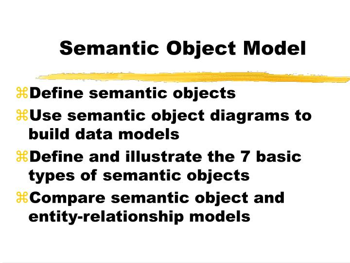 Ppt semantic object model powerpoint presentation id828947 semantic object model ccuart Gallery