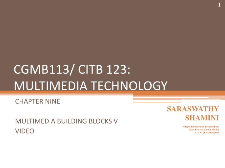 Cgmb113 citb 123 multimedia technology