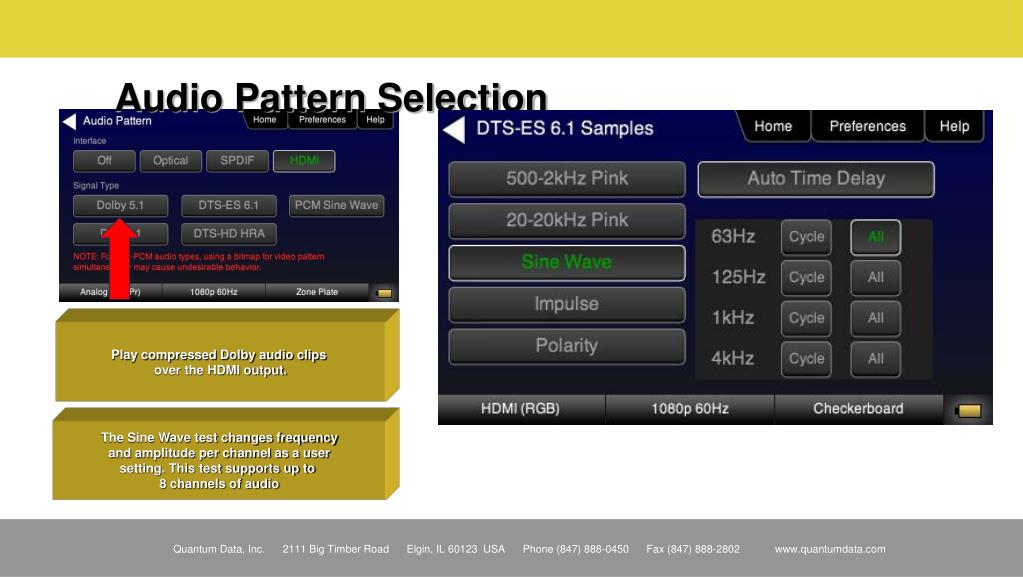 Audio Pattern Selection