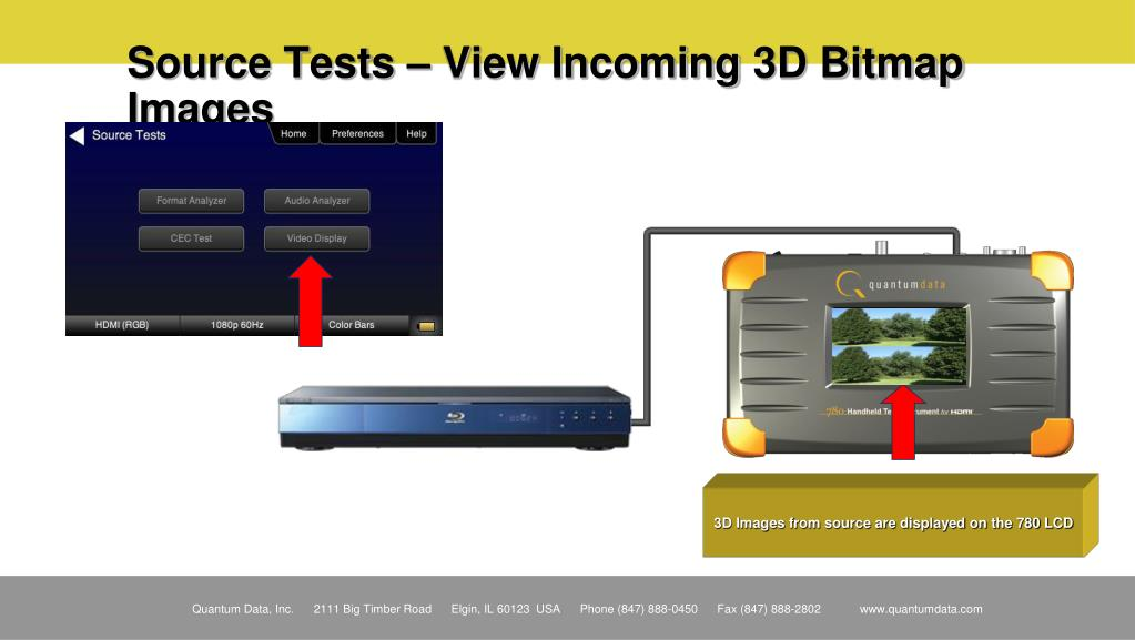Source Tests – View Incoming 3D Bitmap Images