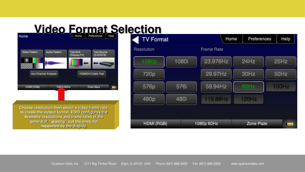 Video Format Selection